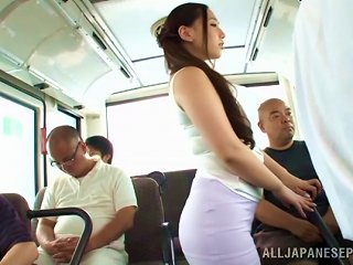 Curvy Sayuki Kanno Gives Head In A Subway Train
