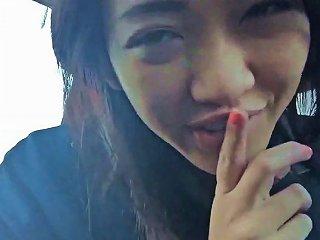 Sexy Asian Amateur Masturbating In The Car