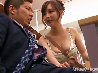 Incredible Shiori Ihara Gets Her Pussy Licked In The Library